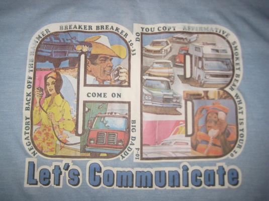 Vintage 1970's awesome CB radio t-shirt, soft & thin