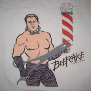 Vintage 1980's Brutus the Barber Beefcake t-shirt, L-XL