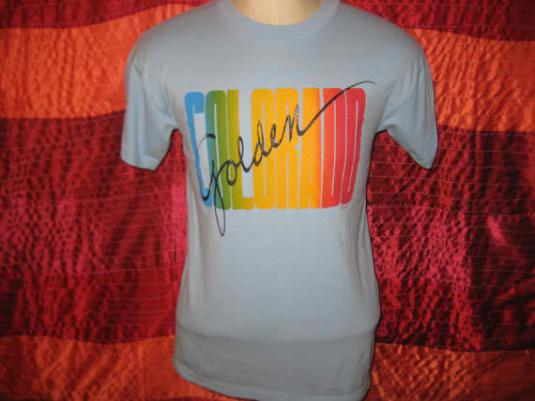 Vintage 1980's Golden, Colorado t-shirt, soft and thin, M L