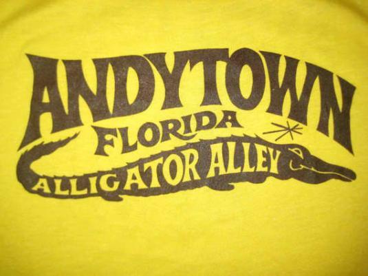 Vintage 1970's Florida alligator t-shirt, soft and thin, M L