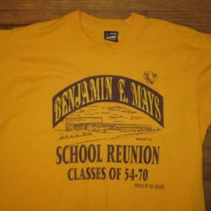 Vintage Early 90's Benjamin Mays school reunion t-shirt