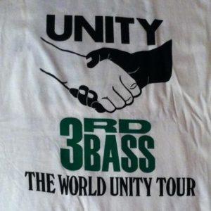 Vintage 1991 3rd Bass hip hop tour t-shirt