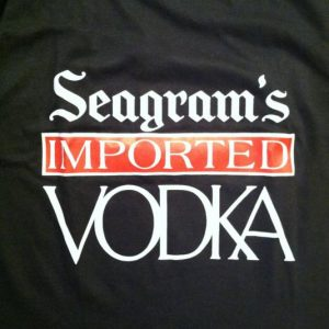 Vintage 1980's Seagram's vodka alcohol booze t-shirt