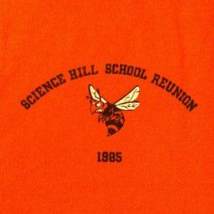 Vintage 1985 Science Hill School Reunion t-shirt