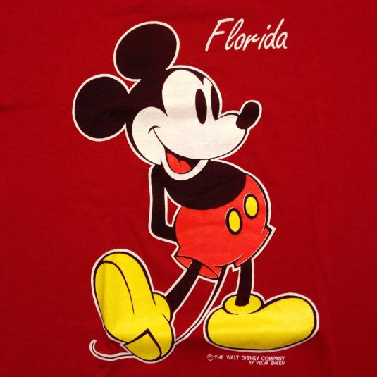 Vintage 1980's Mickey Mouse Florida t-shirt