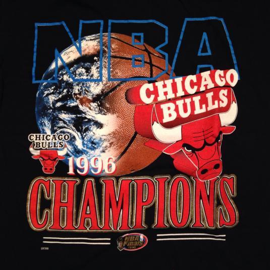 Vintage 1996 Chicago Bulls world champions t-shirt