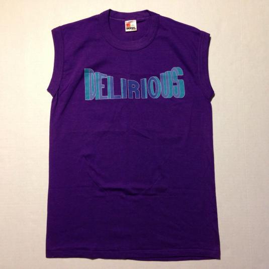 Vintage 1980's DELIRIOUS muscle shirt tank top t-shirt