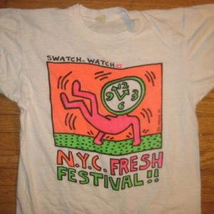 Vintage 1984 Keith Haring hip hop Run DMC Fat Boys t-shirt