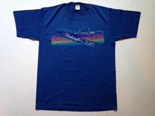 Vintage 1980's Washington DC rainbow Velva Sheen t-shirt