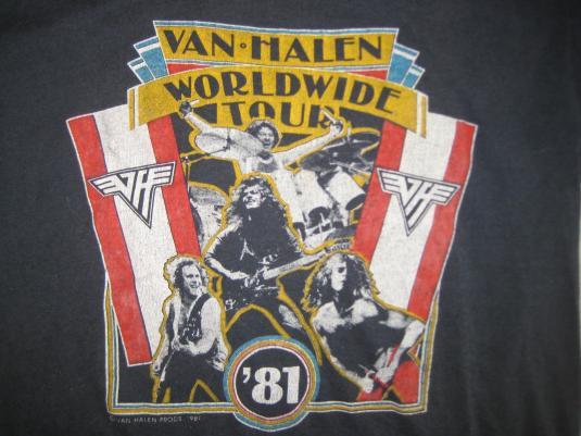 Vintage 1981 Van Halen world tour t-shirt