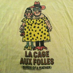 Vintage '79 La Cage Aux Folles gay int. French movie t-shirt