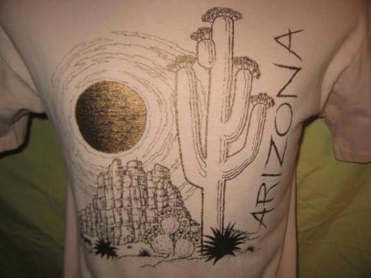 1980's shiny gold Arizon vintage t-shirt, L