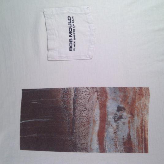 Vintage 1990 Bob Mould Black Sheets Of Rain t-shirt