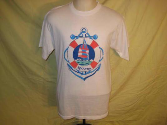 1980's Spooner, Wisconsin iron-on vintage t-shirt, L XL