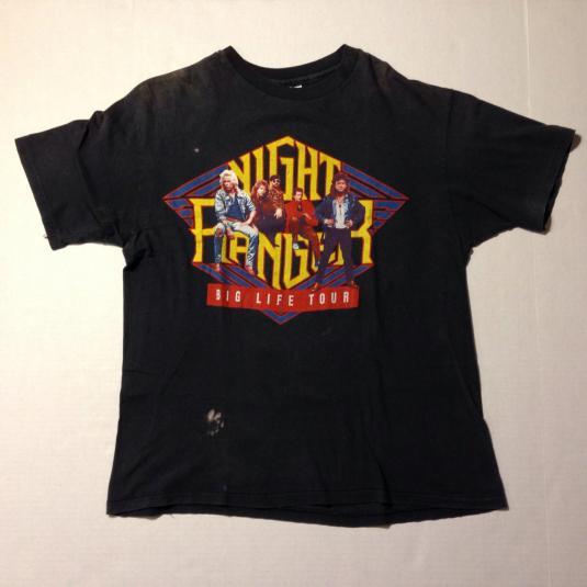 Vintage 1987 Night Ranger concert tour t-shirt