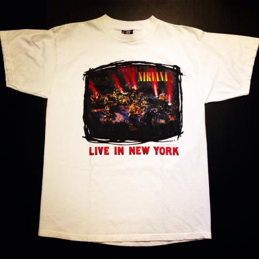 Vintage 1995 Nirvana Unplugged Live in New York t-shirt