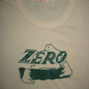 Vintage 1930's Zero candy bar t-shirt Bailey and Himes brand