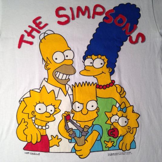 Vintage The Simpsons Bart Simpson Homer t-shirt