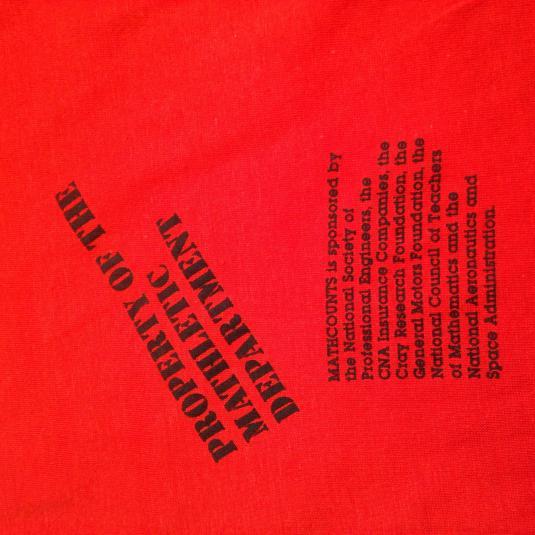 Vintage 1980's Math Counts Mathletes t-shirt