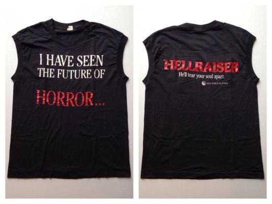 Vintage Original 1980's Hellraiser horror movie t-shirt