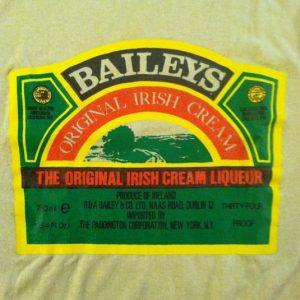 Vintage 1980's Baileys Irish cream liqueur t-shirt