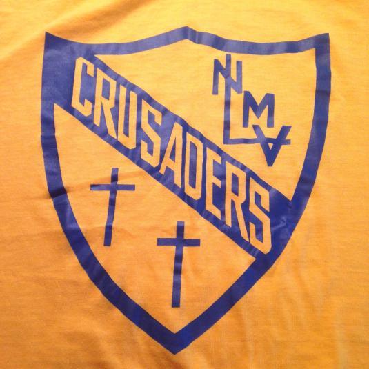 Vintage 1970's Holy Cross Crusaders school t-shirt