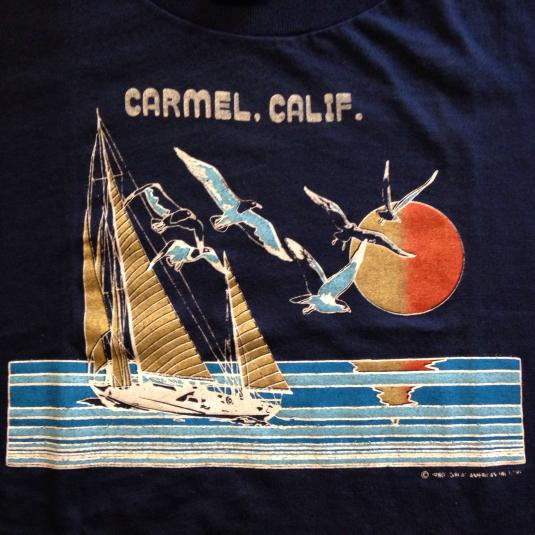 Vintage 1980's Carmel, California seagulls ocean t-shirt