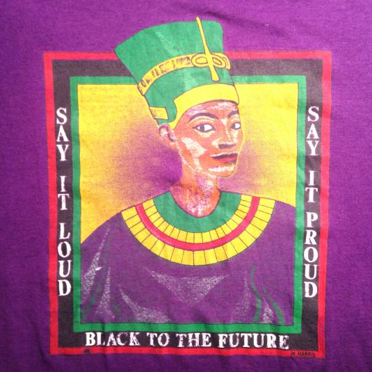 Vintage 1980's Afrocentric black pride t-shirt