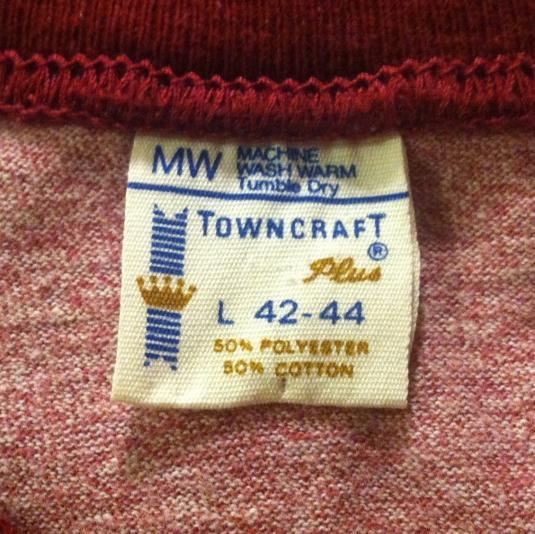 Vintage Beautiful 1970's heather pink blank ringer t-shirt
