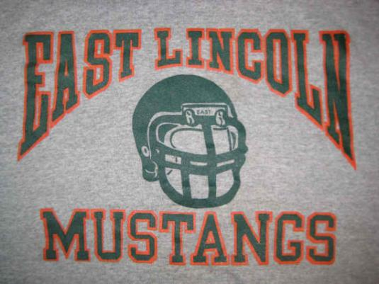 Vintage 1980's Mustangs football t-shirt, soft and thin, M