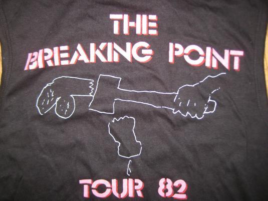 Vintage 1982 Iggy Pop sleeveless t-shirt, deadstock, S M