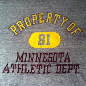Vintage Paper thin 1980's U of M Champion brand t-shirt
