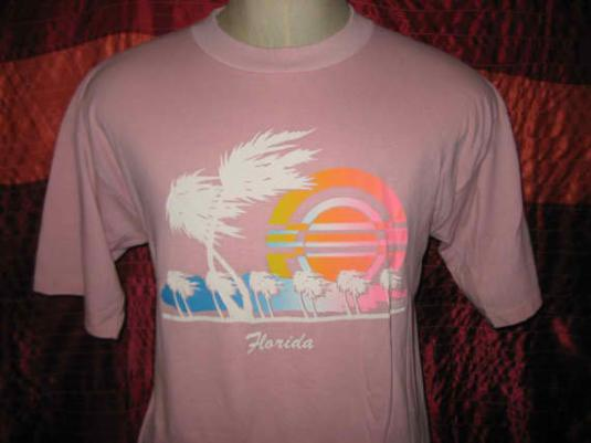 Vintage 1980's Florida iron-on t-shirt, L XL, soft and thin