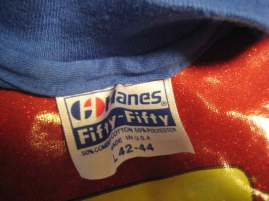 Vintage 1980's Super Man iron-on t-shirt, M L