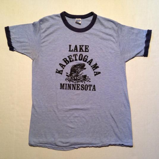Vintage 1980's rayon blend Lake Kabetogama t-shirt