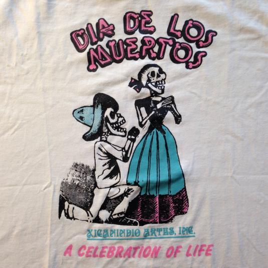 Vintage 1980's Dia De Los Muertos t-shirt