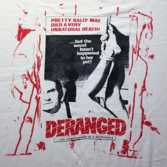 Vintage DERANGED, Eg Gein serial killer horror movie t-shirt