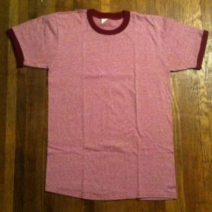 Vintage Beautiful 1970's heather pink blank ringer t-shirt