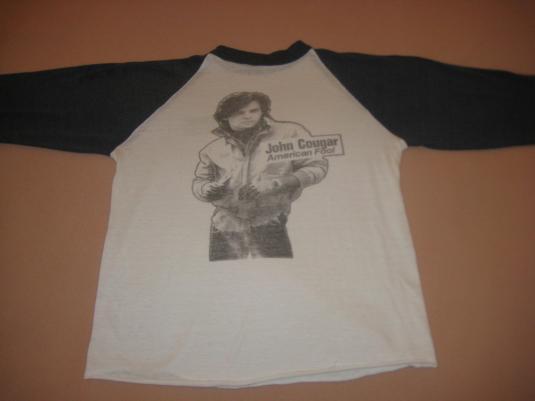 Vintage 1982 John Cougar (Mellencamp) raglan t-shirt