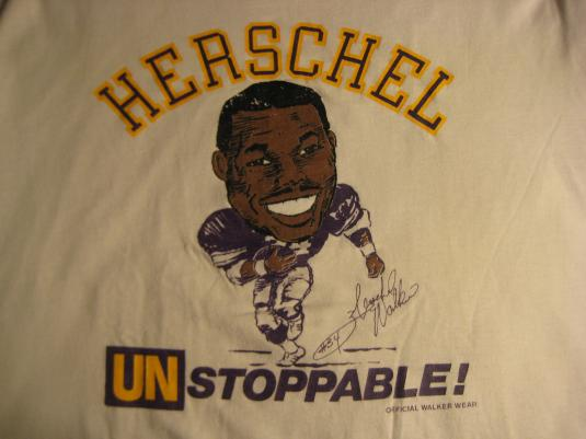 vintage 1989-1991 Herschel Walker Vikings t-shirt, XL