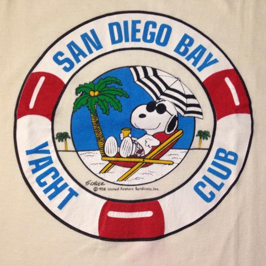 Vintage 1980's Snoopy San Diego Bay Yacht Club t-shirt