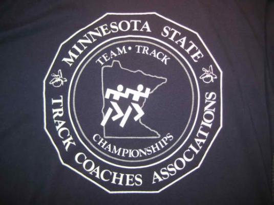 1980's Champion brand MN track t-shirt, XL