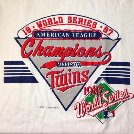 Vintage 1987 Minnesota Twins World Series t-shirt