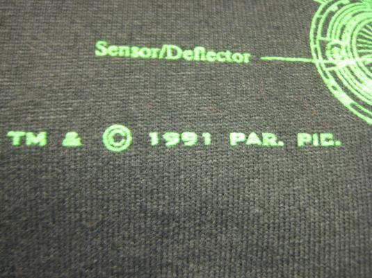 Vintage 1991 Star Trek USS Enterprise t-shirt