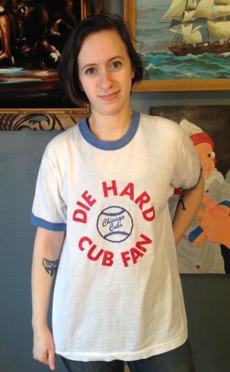 1980's Chicago Cubs Die Hard Cub Fan t-shirt