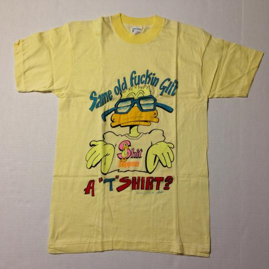 Vintage 1980's crude duck gag gift t-shirt