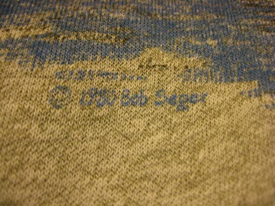 Vintage 1980 Bob Seger raglan t-shirt