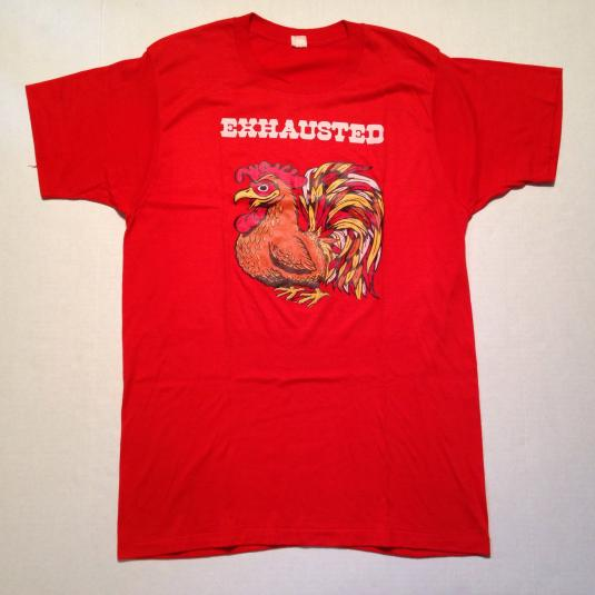 Vintage Weird 1970's exhausted rooster t-shirt