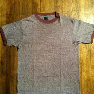 Vintage 1980's heather brown blank ringer t-shirt
