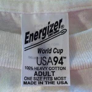 Vintage 1994 World Cup soccer football Energizer t-shirt